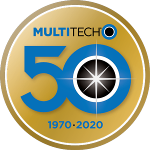 MultiTech 50th Anniversary logo