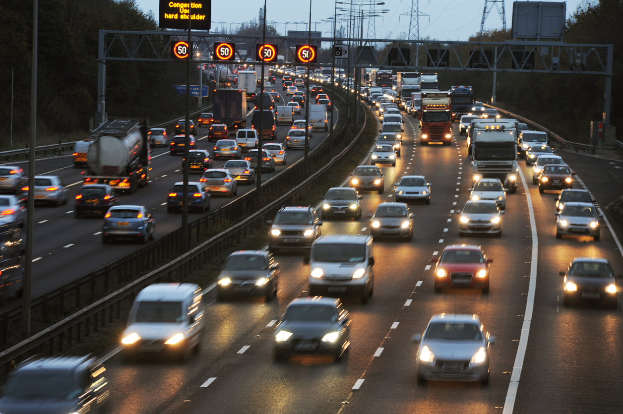 Rush Hour Traffic on the M6 Motorway