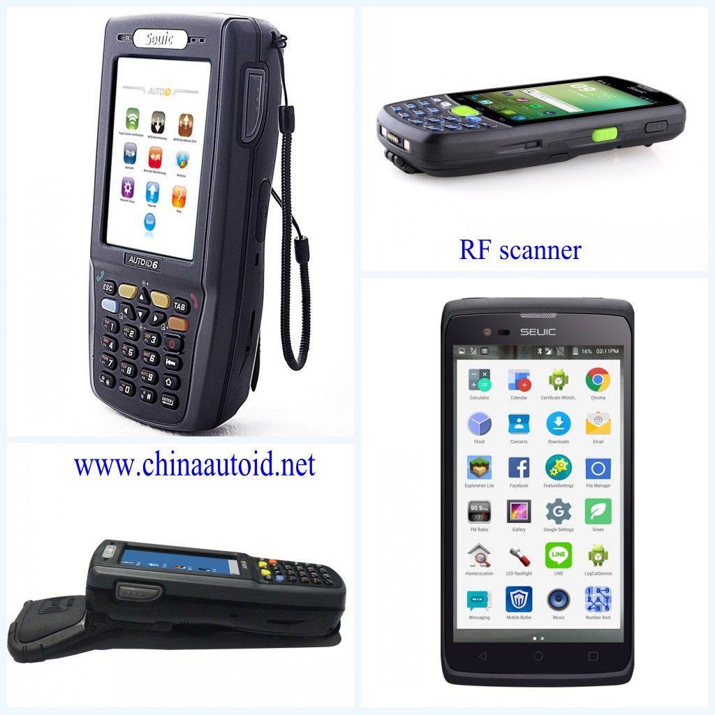 Handheld RFID barcode scanner data collecting PDA terminal