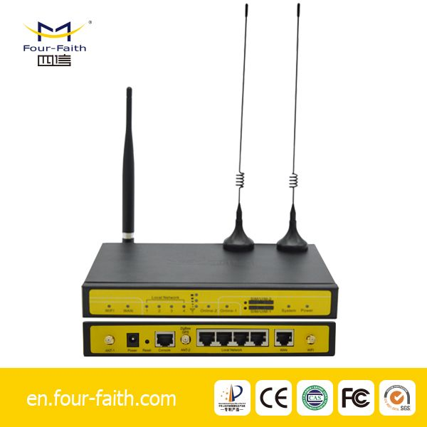 4g wifi industrial ethernet router din rail for plc