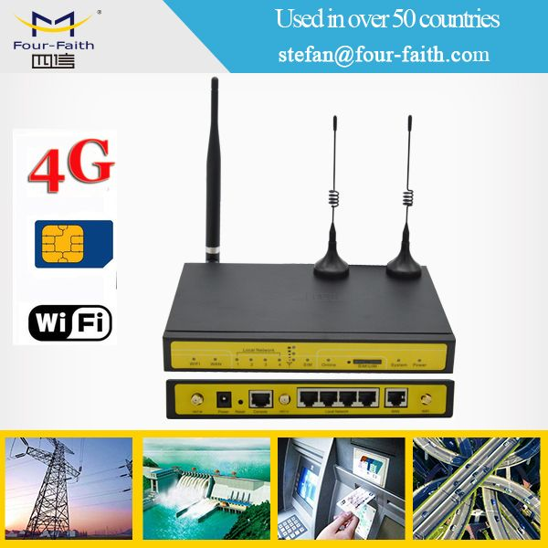 industrial metal wifi 4g ethernet router with serial