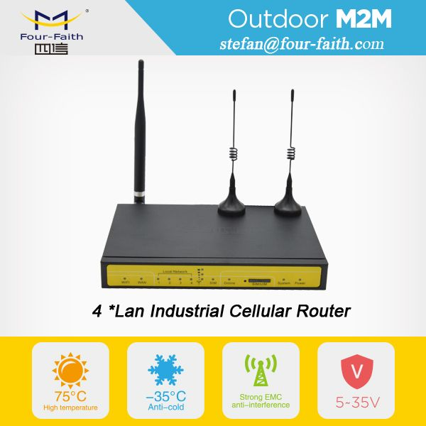 m2m industrial wireless router 4g lte