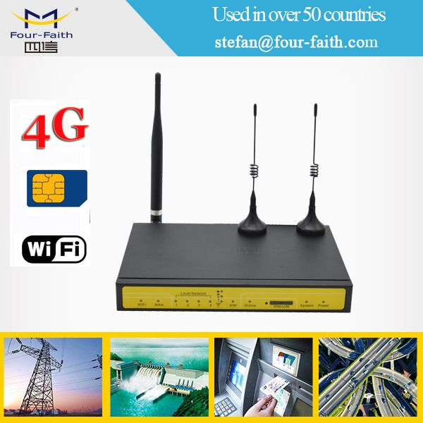 industrial metal wifi 4g ethernet wireless router with serial