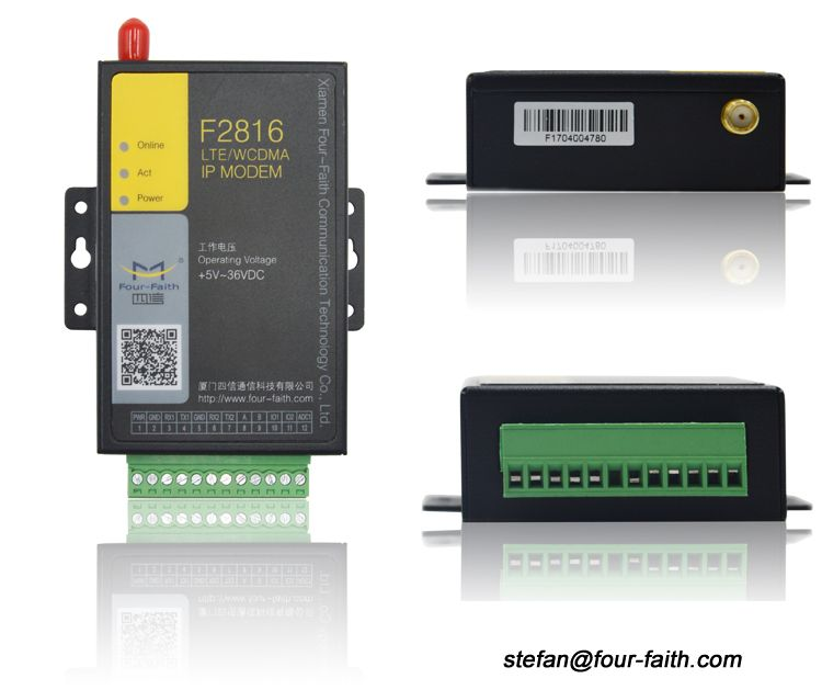 Industrial gsm modem with 4RS232/422/485 data