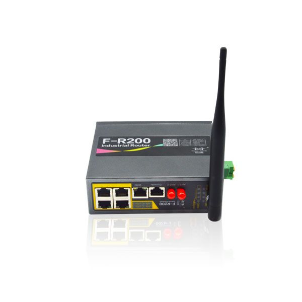rugged industrial 4g lte wifi router plc