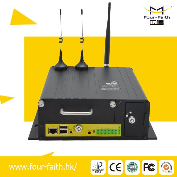 Full D1 CIF 4 CH mobile dvr with 2 RS232