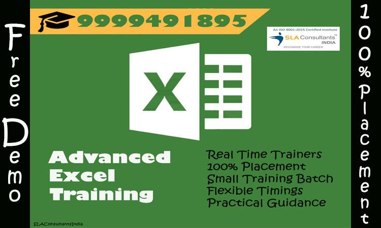 Attend Advanced Excel Training Course in Delhi at SLA Consultants India