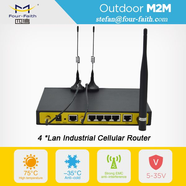 rugged industrial design 4g lte plc router