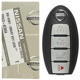 2014 - 2016 Nissan Rogue 4 Button Smart Remote - Emergency key included